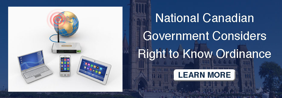 National Canadian government considers right to know ordinance