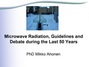 Presentation about RF guidelines and their history. By PhD Mikko Ahonen