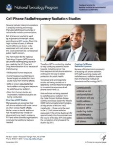 Cell Phone Radiofrequency Radiation Study