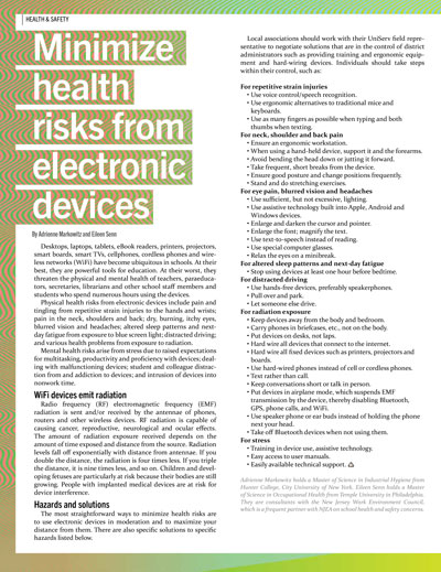 Minimize Health Risks From Electronic Devices