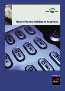 Mobile Phones EMF- Health Fact Pack Brochure