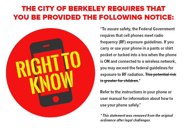 Environmental health trust the berkeley cell phone right to know ninth circuit denies review in berkeley cell phone warning case ben hancock the recorder october 11 2017 sciox Gallery
