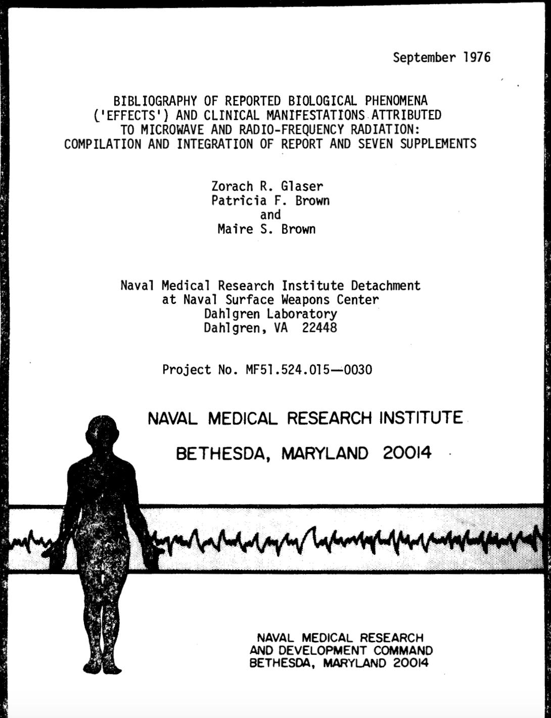 Environmental Health Trust » Blog Archive 1976 Naval Medical