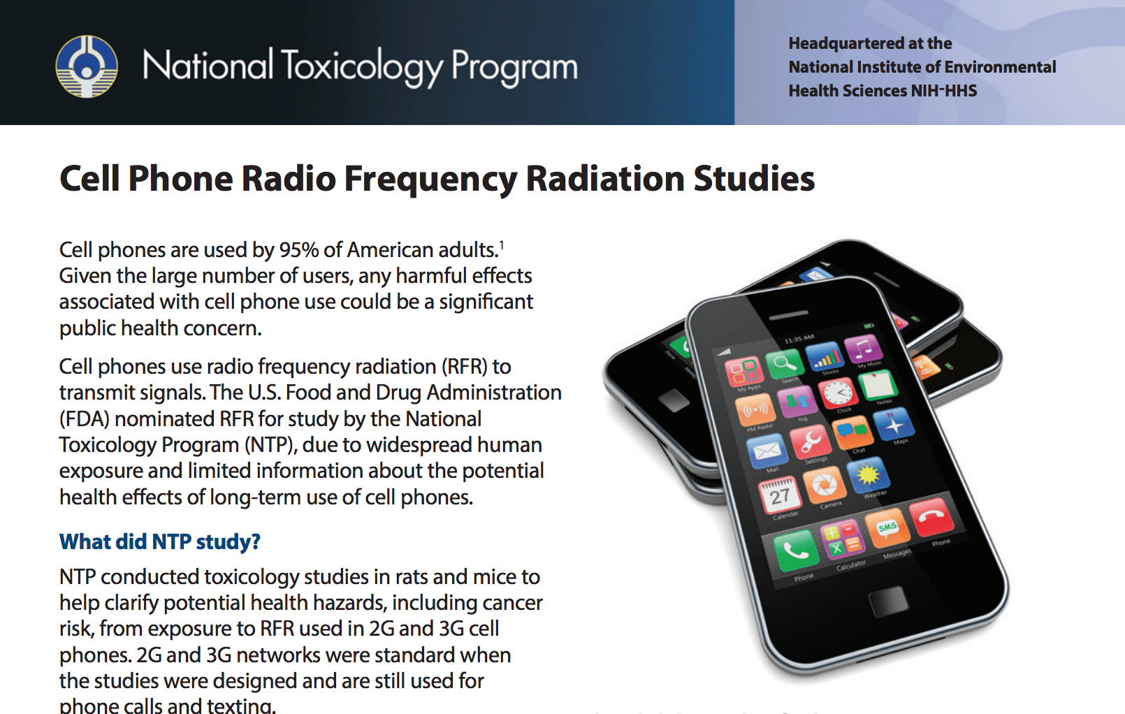 Image result for THE NATIONAL TOXICOLOGY PROGRAM CARCINOGENESIS STUDIES OF CELL PHONE RADIO
