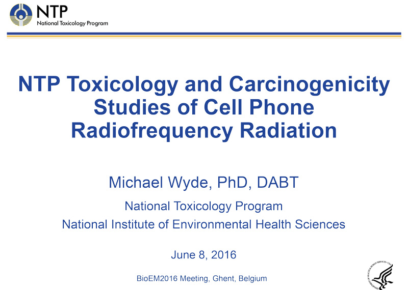 Cell Phone Radiofrequency Radiation Slide Presentation Results