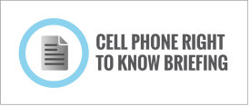 Cell Phone Right to Know Ordinance Briefing