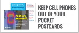 Keep Cell Phones Out of Your Pocket Postcards