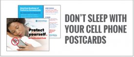 Don't Sleep With Your Cell Phone Postcards