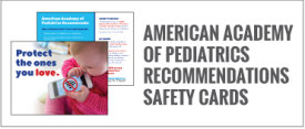 American Academy of Pediatrics Recommendations Safety Cards