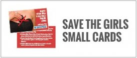 Save the Girls Small Cards