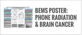 BEMS Poster: Phone radiation & brain cancer