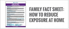 Family Fact Sheet: Reducing Exposures at Home