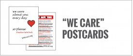 "Practice Safe Tech: ""We Care"" Card"