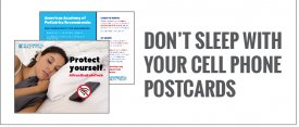 Don't Sleep With Your Cell Phone Postcards 2