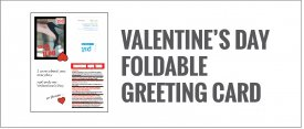 Valentines Greeting Card: Fold it to create a card