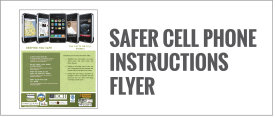 Safer Cell Phone Instructions Flyer from Jackson Hole