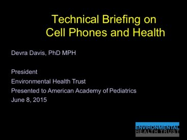 Dr. Davis presents to the American Academy of Pediatrics
