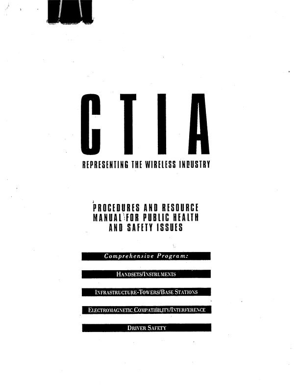 CTIA Wireless Industry Manual